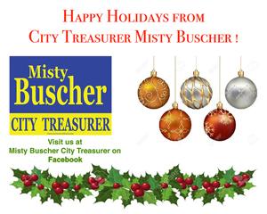 2016 Holiday Party Sponsor - Springfield City Treasurer Misty Buscher