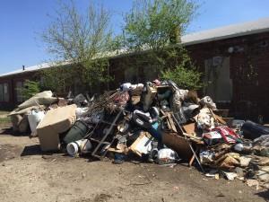 Harvard Park alley cleanup, April, 2016