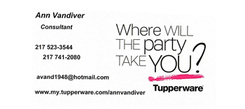 Holiday Party Sponsor - Ann Vandiver Tupperware.