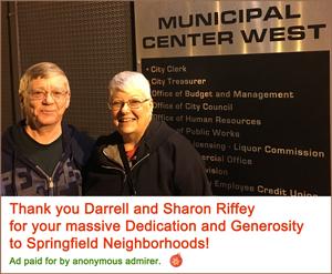 Holiday Party Sponsor - Darrell & Sharon Riffey.