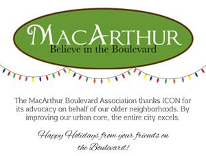 Holiday Party Sponsor - MacArthur Boulevard Association