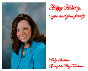 Holiday Party Sponsor - City Treasurer Misty Buscher.