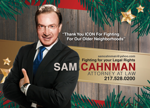 Holiday Party Sponsor - Sam Cahnman Attorney at Law.