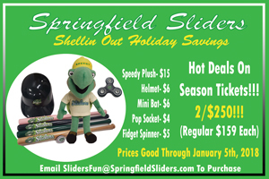 Holiday Party Sponsor - Springfield Sliders Baseball.