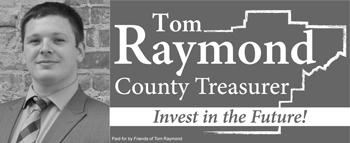 Holiday Party Sponsor - Tom Raymond for Sangamon County Treasurer.