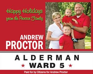 Holiday Party Sponsor - Ward 5 Alderman Andrew Proctor.