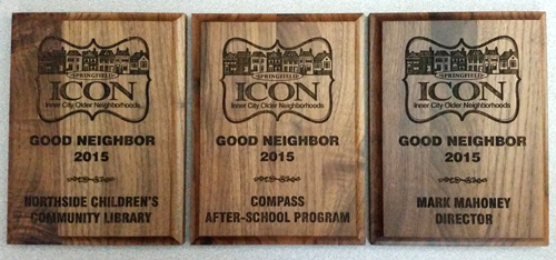 2015 Springfield ICON Good Neighbor Award Plaques