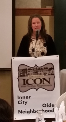ICON Holiday Party 2017 - Steering Committee Chair Carol Kneedler