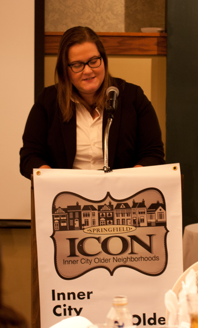 ICON Holiday Party 2017 - Steering Committee member Jess Weitzel