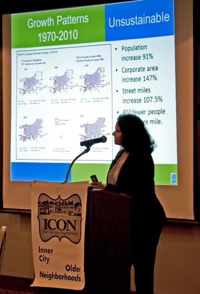 ICON Holiday Party 2017 - guest speaker Vasudha Pinnamaraju Fiscal Impact of Sprawl