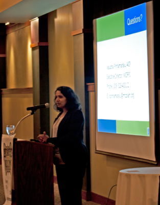 ICON Holiday Party 2017 - guest speaker Executive Director Vasudha Pinnamaraju from McLean County Regional Planning Commission