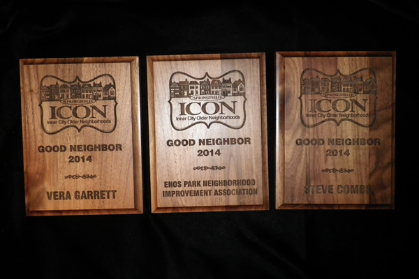 2014 Springfield ICON Good Neighbor Award Plaques