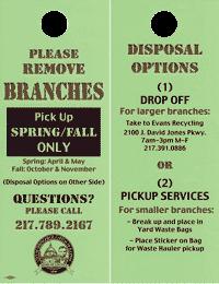 Springfield Public Works branches door hanger