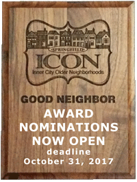Good Neighbor Awards - nominations for 2017 awards are due by October 31, 2017