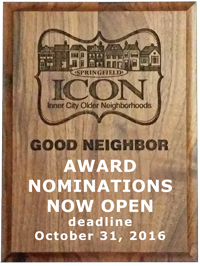 Good Neighbor Awards - nominations for 2016 awards are due by October 31, 2016